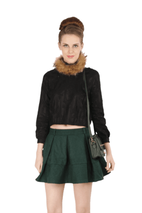 REMANIKA Women Pleated Mini Skirt