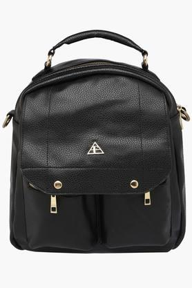 FEMINA FLAUNTWomens Synthetic Leather Zipper Closure Backpack