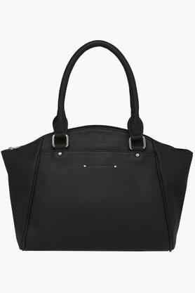 Womens Zipper Closure Synthetic Leather Tote Handbags - 201837553