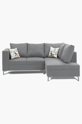 Silver Water Repellent Fabric Sofa (2 Seater - 1 Lounger)