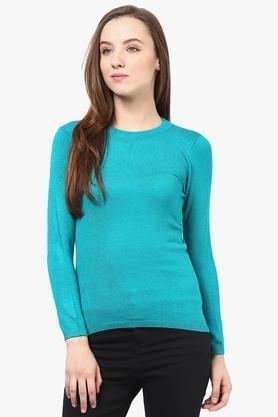 RAREWomens Round Neck Solid Sweater