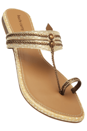 HAUTE CURRY Womens Slipon Flat Sandal - 9776817