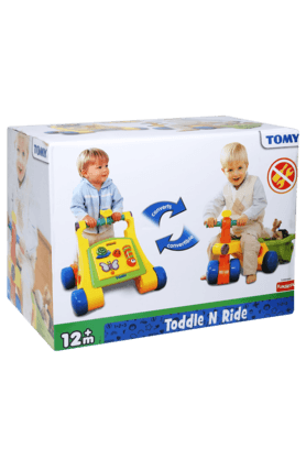 Tomy Kids Toys Inflatable Toys - Unisex Toddle and Ride Convertible Scooter