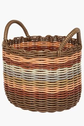 IVY Pvc Round Basket With Handle - Large
