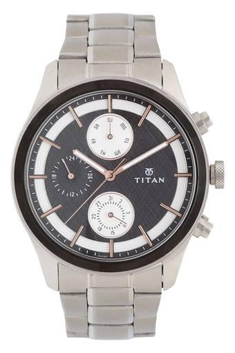 Mens Black Dial Metallic Multi-Function Watch - 1805KM01