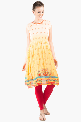 FUSION BEATS Womens Anarkali Fit Printed Kurta - 201217652