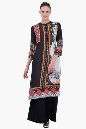 JUNIPER Women Kurta With Band Collar