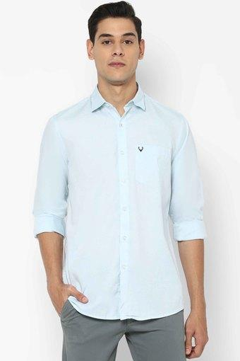 ALLEN SOLLY -  GreyCasual Shirts - Main