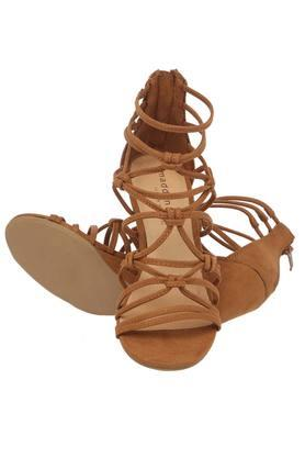Womens Casual Wear Zipper Closure Gladiator Wedges