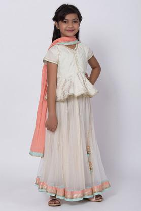 BIBA GIRLS - Off White Indianwear - 3