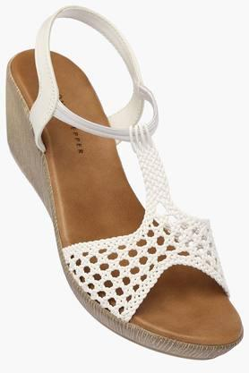 LEMON & PEPPER Womens Daily Wear Slipon Wedge Sandal