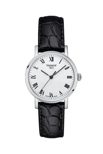 Womens White Dial Leather Analogue Watch - T1092101603300