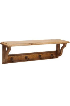 ADARA Wall Shelf With 4 Hooks