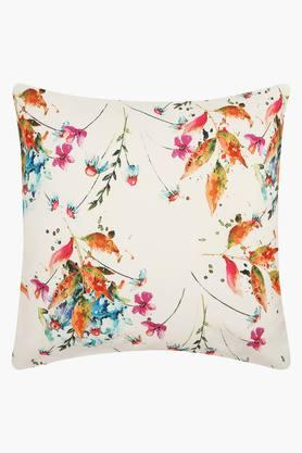 Square Floral Printed Angola Cushion Cover