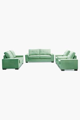 Emerald Green Fabric Sofa (3-2-1-1 Sofa Set)
