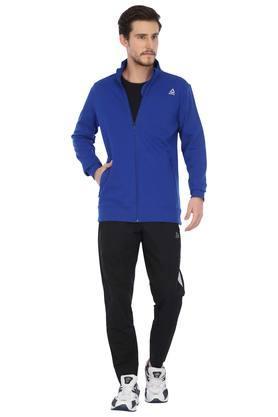 Mens Zip Through Neck Slub Sports Jacket