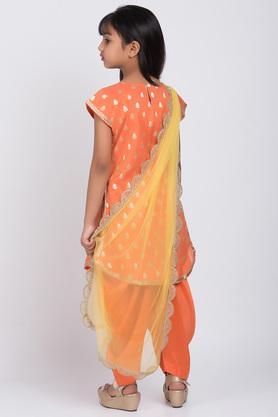 BIBA GIRLS - OrangeSalwar Kurta Set - 1