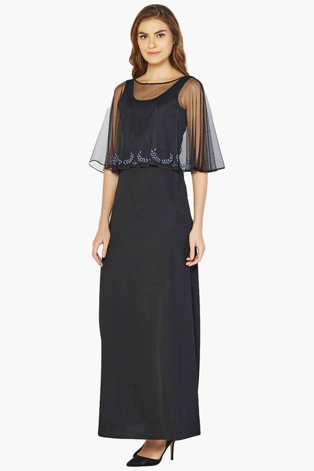 61edadfd922 Buy AND Women s Sheer Cape Maxi Dress
