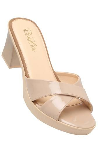 RAW HIDE -  Beige Heels - Main