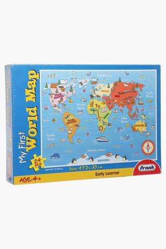 Buy Frank Unisex World Map Puzzle Board Game Shoppers Stop