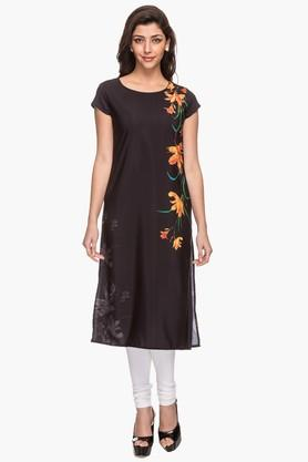 KASHISH Womens Round Neck Printed Kurta - 201919771