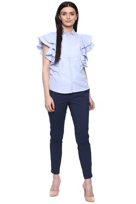 Womens 3 Pocket Solid Pants