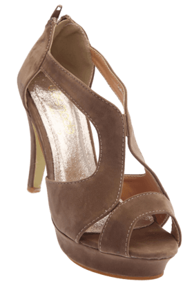 TRESMODE Womens Beige High Fashion Heel Sandal