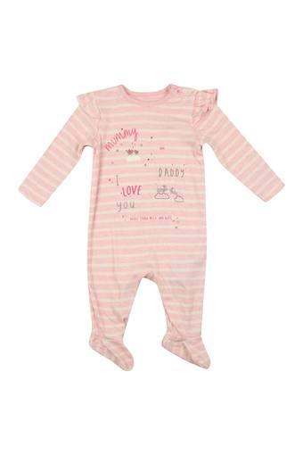 Unisex Round Neck Graphic Print Babysuit
