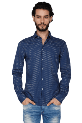 Mens Full Sleeves Slim Fit Casual Printed Shirt
