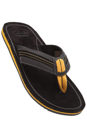 CLARKS Mens Black Mix Slipon Casual Slipper