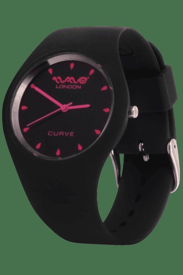 Curve Dark Grey & Pink Ladies Watch