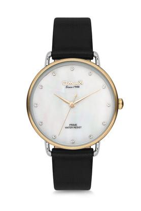 Womens Prime White Dial PU Analogue Watch - FA9-PM001T62I