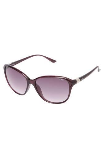 Womens Oversized UV Protected Sunglasses - NIDS2572C3SG
