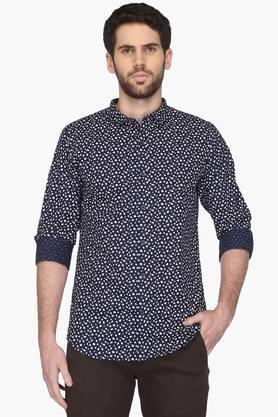 United Colors Of Benetton Formal Shirts (Men's) - Mens Cutaway Collar Printed Shirt