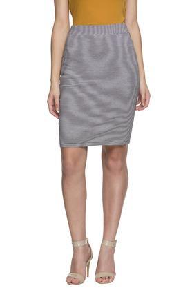 Womens Striped Formal Skirt