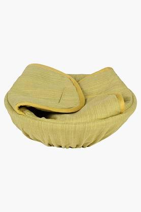Frida Sombre 100% Cotton Bread Basket - Green