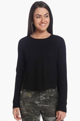 ONLY Womens Round Neck Knitted Solid Pullover (Buy For Rs.5000/- And Get Rs.1000/- Off)