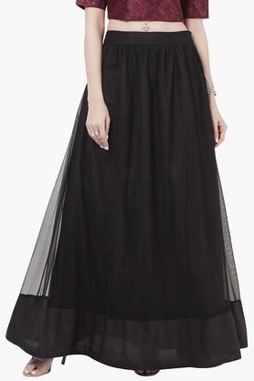 INDYAWomens Mesh Maxi Skirt