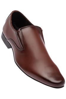 FRANCO LEONEMens Leather Formal Slipon Shoes