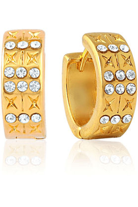 MAHIMahi Gold Plated Indian Sophistication Earrings With Crystals For Women ER1100313G