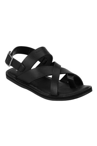 RED TAPE -  Black Sandals & Floaters - Main