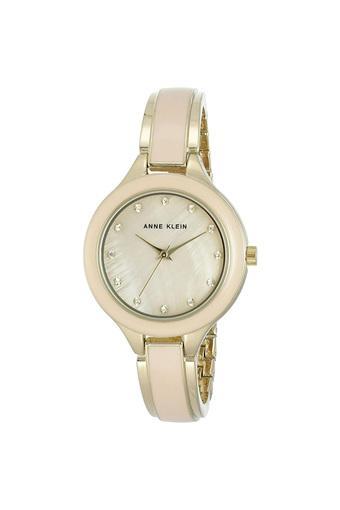 Womens Mother of Pearl Dial Metallic Analogue Watch - AK2934LPGB