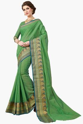 Women Designer Partywear Cotton Silk Saree