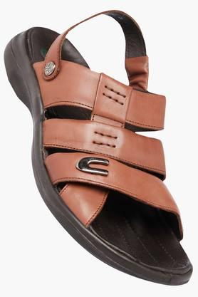 WOODLAND Mens Leather Slipon Sandals