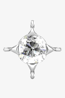 VELVETCASEWomens 18 Karat White Gold Nose Ring (Free Diamond Pendant) - 201065041