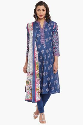 BIBA Womens Cotton A-Line Suit Set