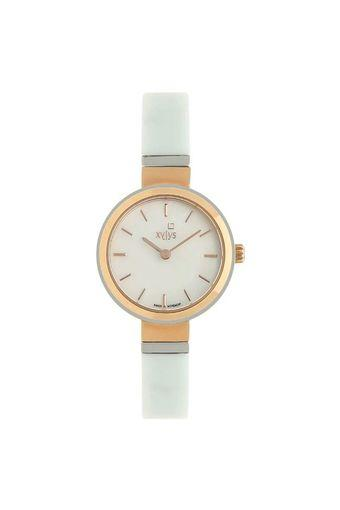 Womens White Dial Steel & Ceramic Analogue Watch - 45014KD02E