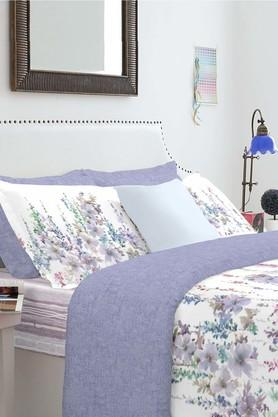 SPACESCotton Floral Double Bed Set With Pillow Cover