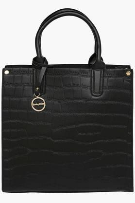 RS BY ROCKY STARWomens Leather Zipper Closure Tote Handbag