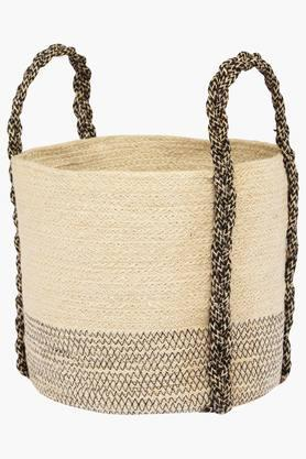 BACK TO EARTH Jute Storage Basket - Small